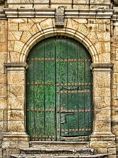 Boyaca Photograph - Old Church Door by Maria Coulson