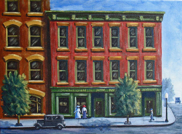 Painting - Old Downtown by Kevin Hughes