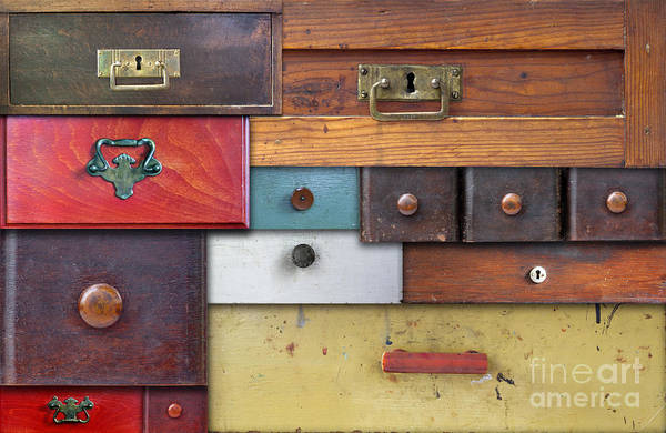 Chest Of Drawers Photograph - Old Drawers - In Utter Secrecy by Michal Boubin