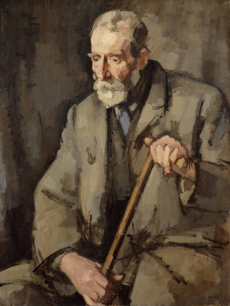 Elderly Wall Art - Painting - Old Duff, 1922 by Samuel John Peploe