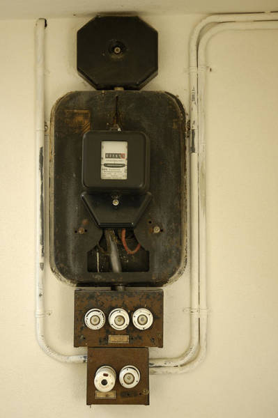 Photograph - Old Electricity Meter by Matthias Hauser