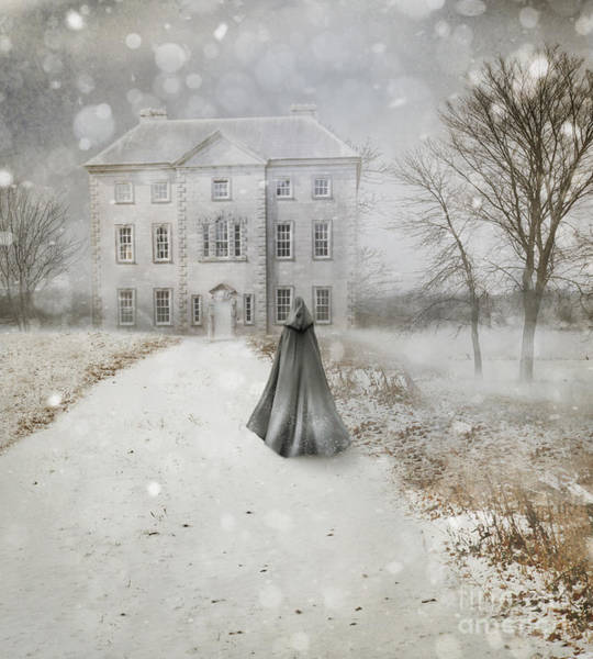 Photograph - Old English Manor House Frozen In Winter Time by Sandra Cunningham