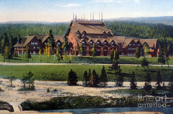 National Historic Landmark Photograph - Old Faithful Inn Yellowstone Np 1928 by NPS Photo Asahel Curtis