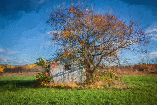 Photograph - Old Farm Building Sussex County Nj Painted   by Rich Franco