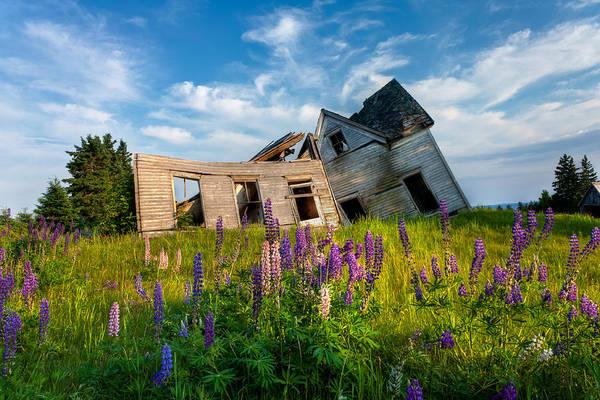 Crumble Photograph - Old Farm House by Matt Dobson
