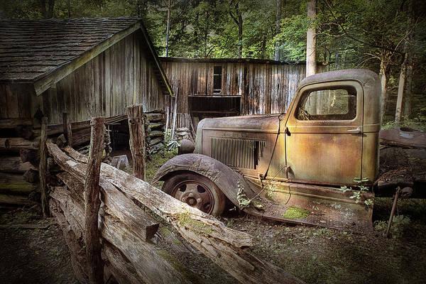 Old Farm Pickup Truck Art Print
