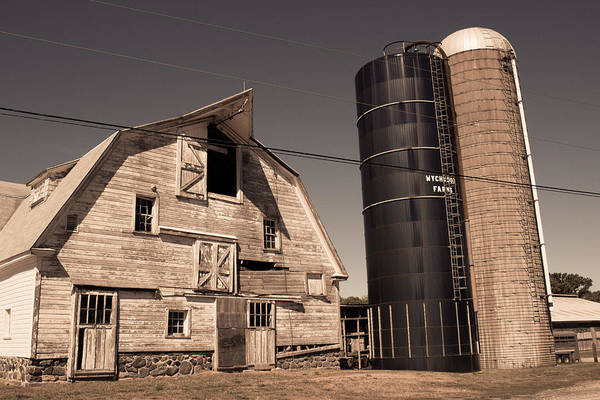 Photograph - Old Farm Silos - North Stonington Ct by Kirkodd Photography Of New England