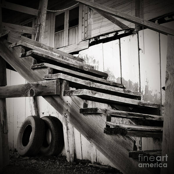 Photograph - Old Farm Stairs by Charmian Vistaunet