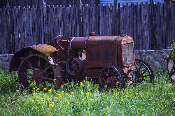 Wall Art - Photograph - Old Farm Tractor by Garry Gay