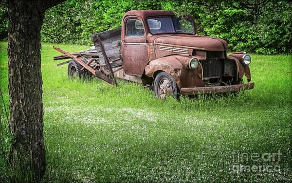 Crab Photograph - Old Farm Truck by Edward Fielding