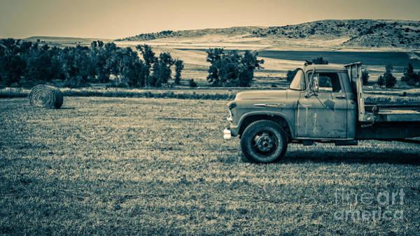 Wall Art - Photograph - Old Farm Truck Fishtail Montana by Edward Fielding