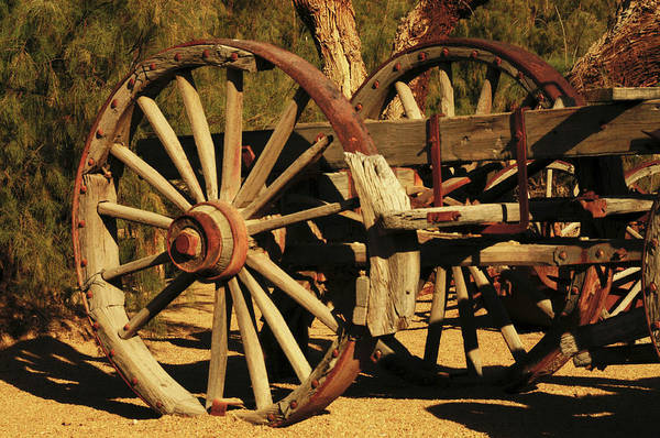 Furnace Creek Photograph - Old Farm Wagon Furnace Creek, Death by Michel Hersen