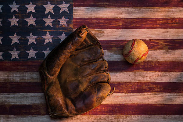 Gay Flag Photograph - Old Fashion Baseball by Garry Gay