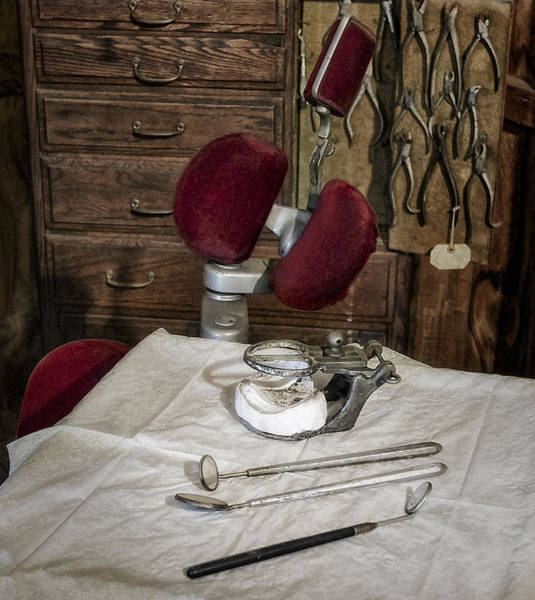 Photograph - Old Fashioned Dental Instruments by Susan Candelario