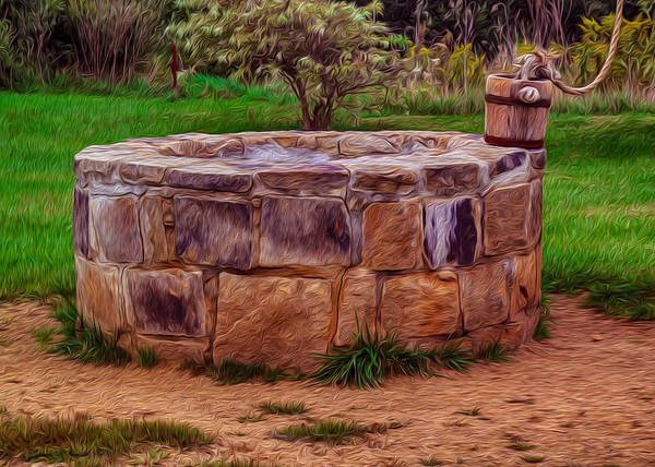 Painting - Old Fashioned Well by Omaste Witkowski