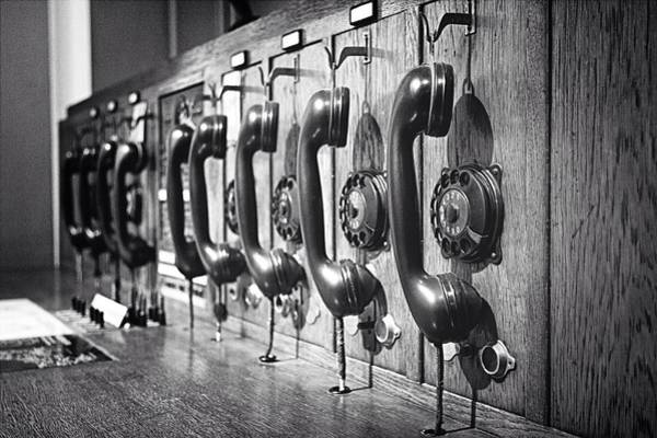 Close Up Photograph - Old-fashioned Wooden Telephone by Anja Heid / Eyeem