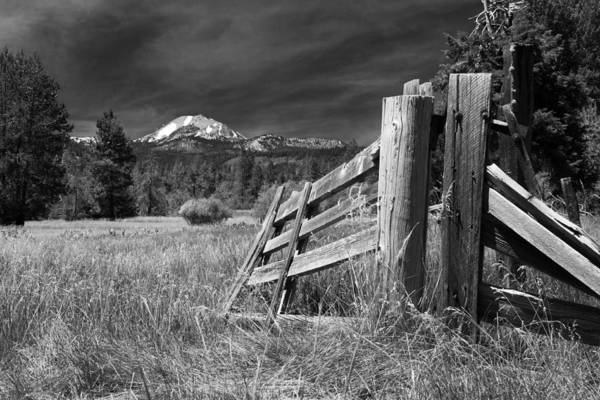 Photograph - Old Fence At Mount Lassen by James Eddy