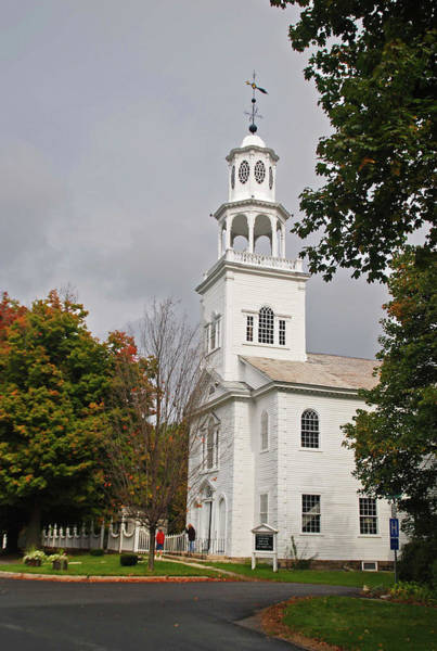 Photograph - Old First Church 8275 by Guy Whiteley