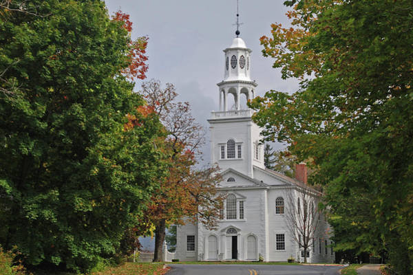Photograph - Old First Church 8285 by Guy Whiteley