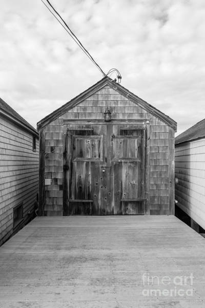 Photograph - Old Fishing Shack Little Boars Head Rye Nh by Edward Fielding