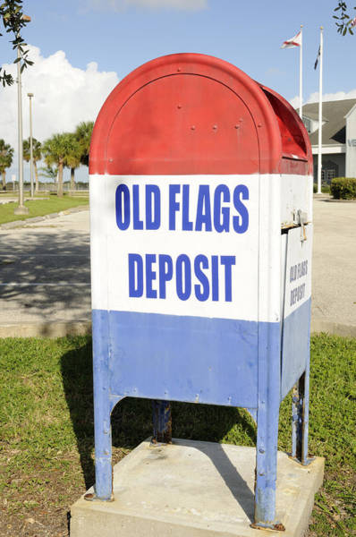 Photograph - Old Flags Deposit Box by Bradford Martin