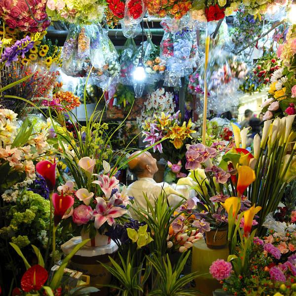 Hong Kong Orchid Photograph - Old Flower Vendor by Martin Llado