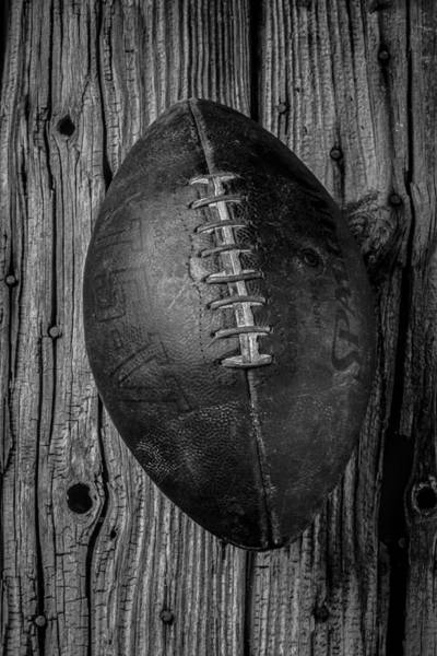 Wall Art - Photograph - Old Football by Garry Gay