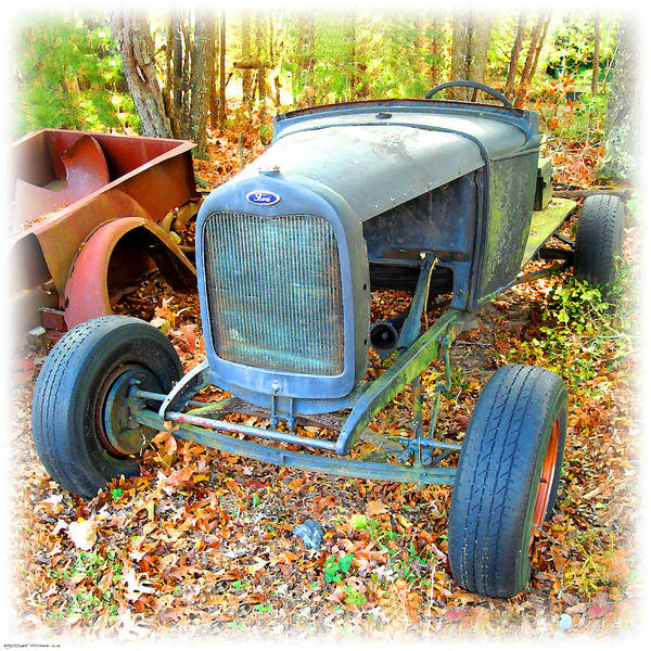 Digital Art - Old Ford Hot Rod by K Scott Teeters