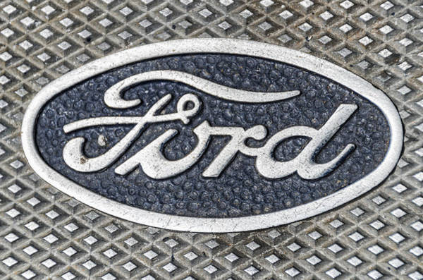 Wall Art - Photograph - Old Ford Symbol by Paulo Goncalves