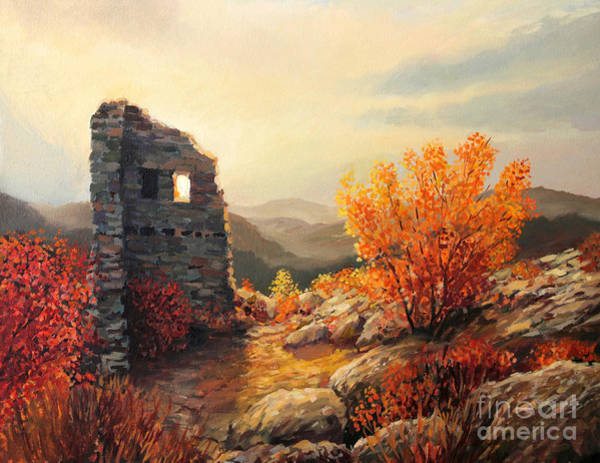 Wall Art - Painting - Old Fortress Ruins by Kiril Stanchev