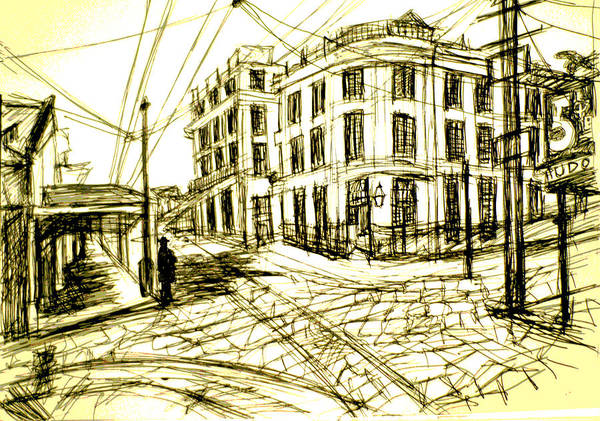 Drawing - Old French Opera House New Orleans by Paul Sutcliffe