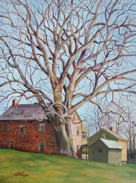 Sycamore Painting - Old Friends by Diane Hutchinson