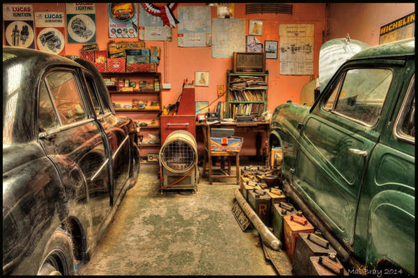 Wall Art - Photograph - Old Garage  by Mal Bray