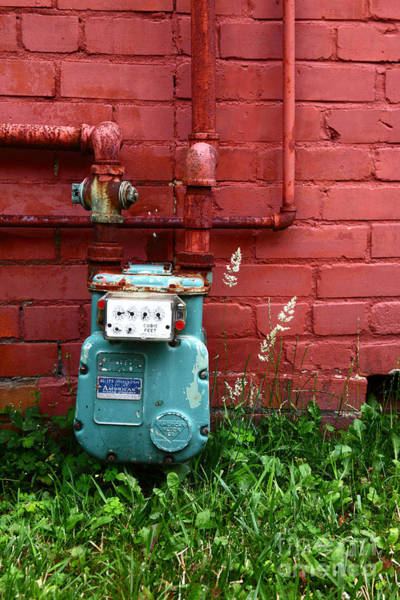 Photograph - Old Gas Meter by James Brunker