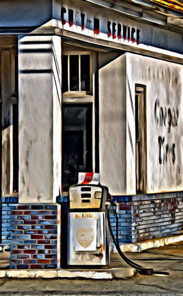 Digital Art - Old Gas Station by Patrick M Lynch