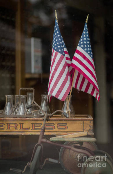 Fourth Of July Photograph - Old General Store Window by Edward Fielding