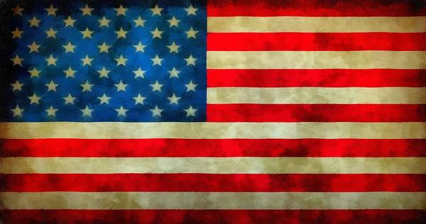 Wall Art - Painting - Old Glory by Dan Sproul