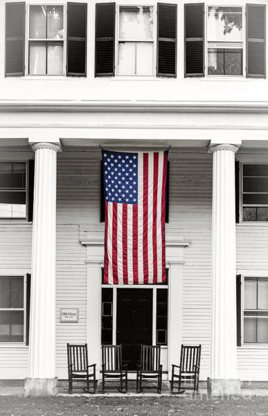 Old Glory Wall Art - Photograph - Old Glory Est. 1776 by Edward Fielding