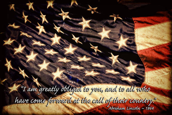 Photograph - Old Glory Military Tribute by Lincoln Rogers