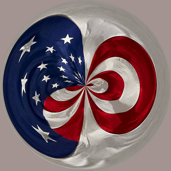 Photograph - Old Glory Orb by Wes and Dotty Weber