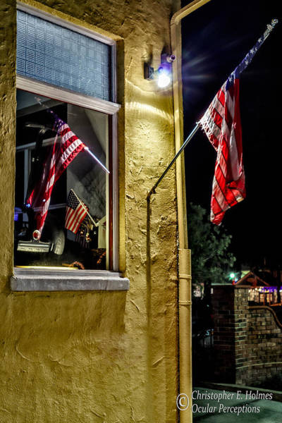 Photograph - Old Glory Reflected by Christopher Holmes