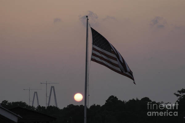 Photograph - Old Glory Sunset Diamonds by Dale Powell