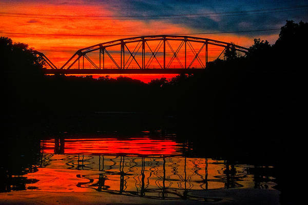 Photograph - Old Gravois Bridge Silhoutte by Robert FERD Frank