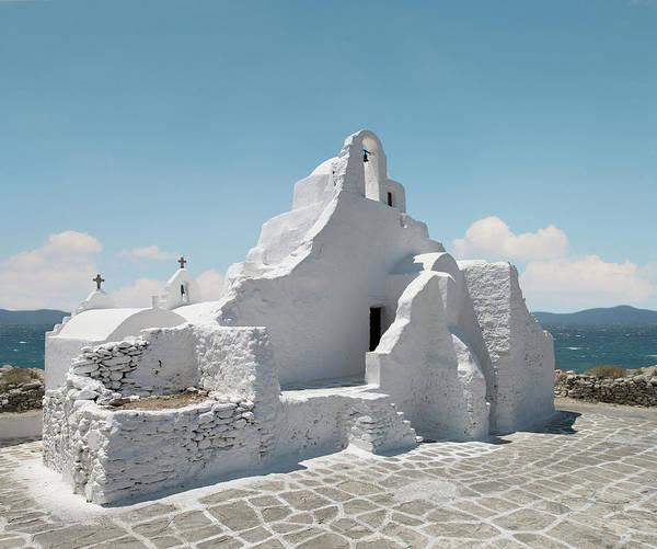 Ancient Greek Photograph - Old Greek Orthodox Church, Mykonos by Ed Freeman