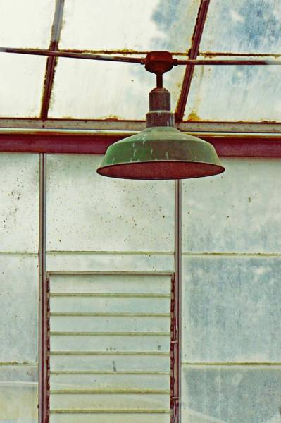 Photograph - Old Green Lamp by Patricia Strand