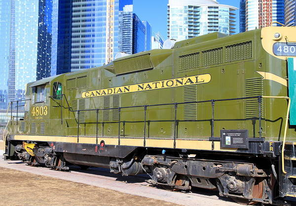 Canadian National Railway Photograph - Old Green Wagon by Valentino Visentini