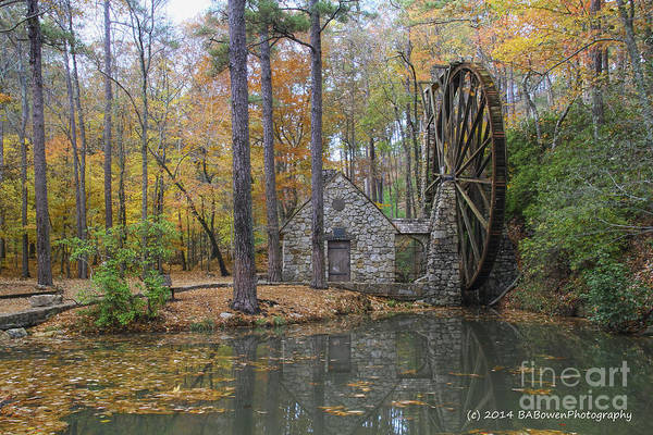 Photograph - Old Grist Mill 4 by Barbara Bowen