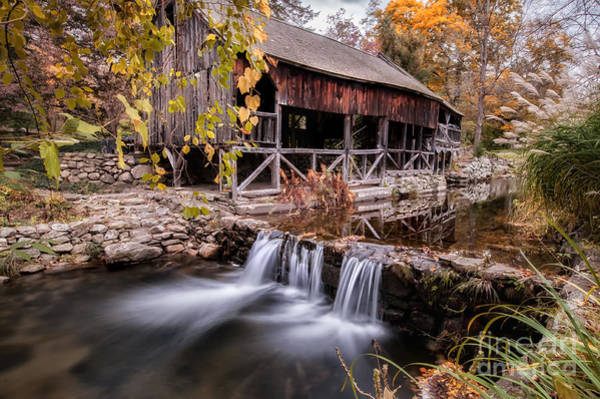 Photograph - Old Grist Mill - Macedonia Connecticut  by T-S Fine Art Landscape Photography