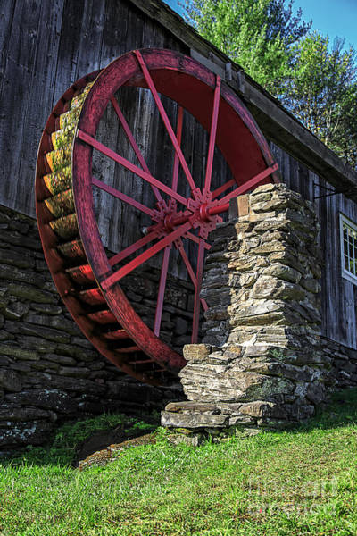 Water Wheel Wall Art - Photograph - Old Grist Mill Vermont by Edward Fielding