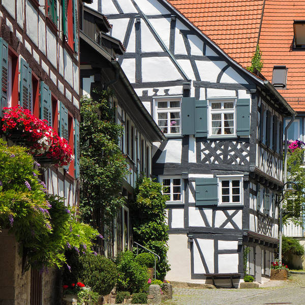 Photograph - Old Half-timbered Houses In Sindelfingen Germany by Matthias Hauser